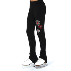 S113 Crystal Snow Daisy Leggings