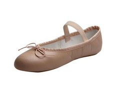Pink Demi Pointe Leather Ballet Shoe Child|Chaussure de Ballet Rose en cuir Demi Pointe Enfant