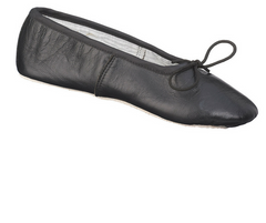 Black Demi Pointe Leather Ballet Shoe Adult|Chaussure de Ballet Noir en cuir Demi Pointe Femme