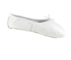 White Demi Pointe Leather Ballet Shoe Child|Chaussure de Ballet Blanc en cuir Demi Pointe Enfant