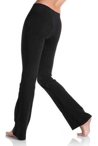 1610-Pants with Flare Leg and a V waist Child-BLACK