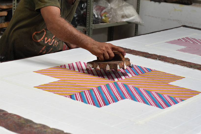 the process of block print