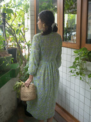 Reveur Lime Midi Dress