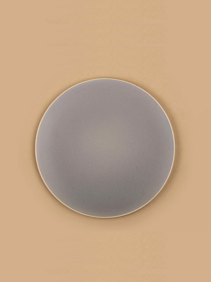 Large Basik Dinner Plates Pair in Grey