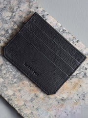 Ara Cardholder in Textured Black