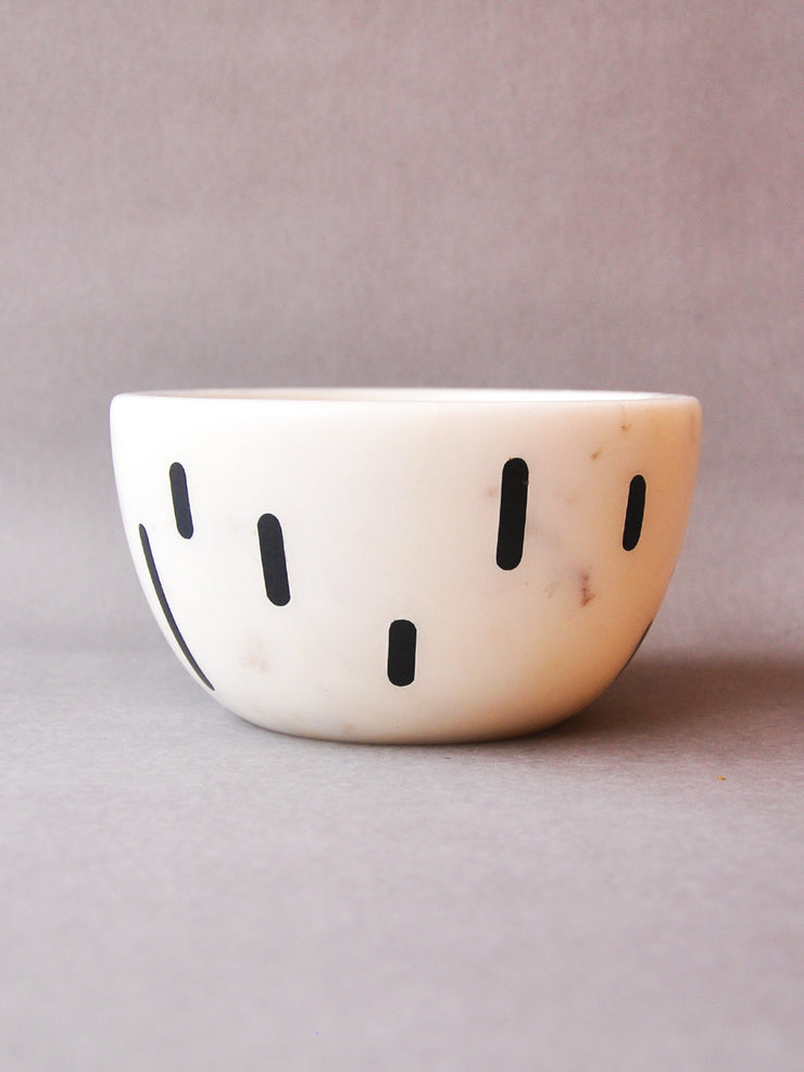 Monochrome Stitch Bowl