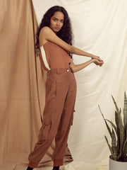 Tuscany Worker Pants in Copper Brown