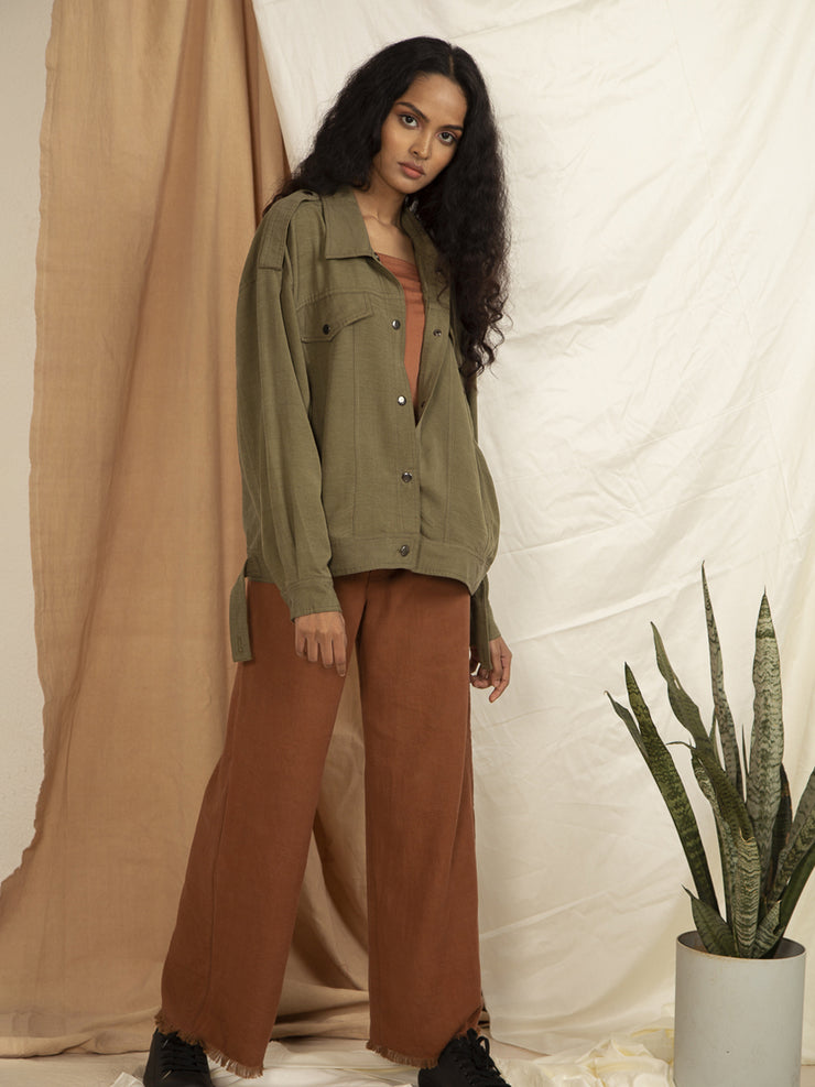 Infinity flare Pants in Copper Brown