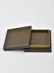 Braille Coaster Set in Olive