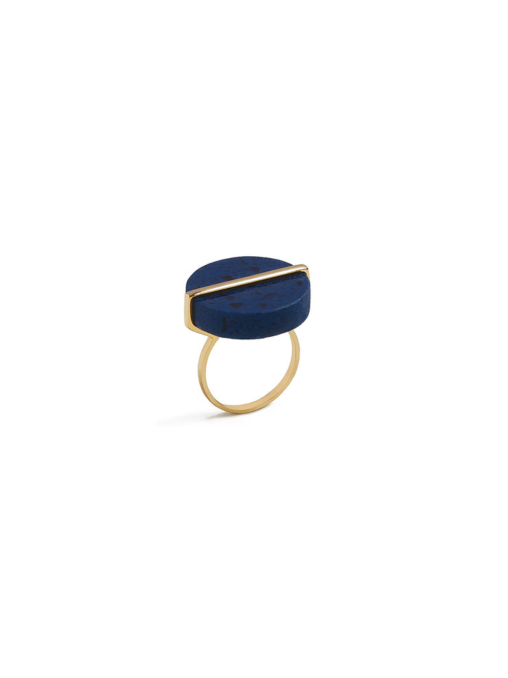 Disc Ring in Blue