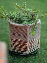 Jute & Gold Planter Small