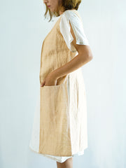 Sleeveless Gold Long Vest