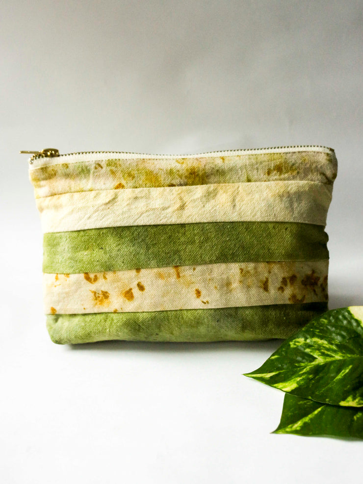 Green & Yellow Fabric Waste Pouch