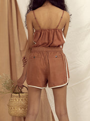 Alice Performance Shorts in Copper Brown