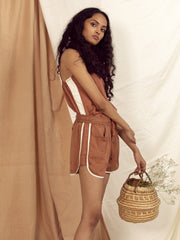 Dona Strap Top in Copper Brown