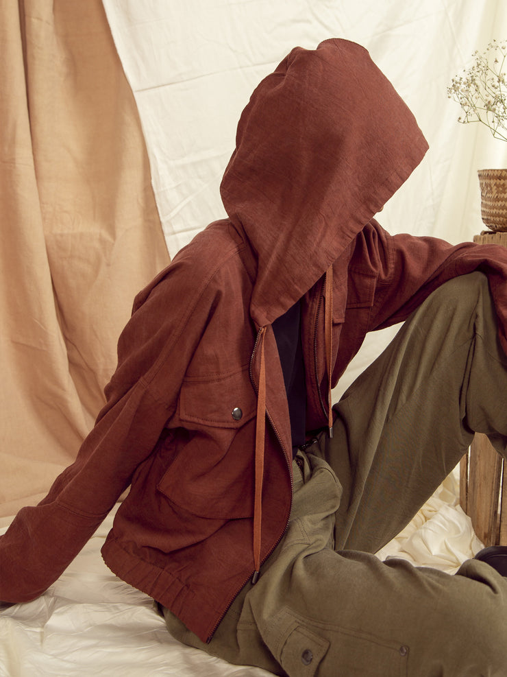 Seoul Oversized Jacket in Copper Brown