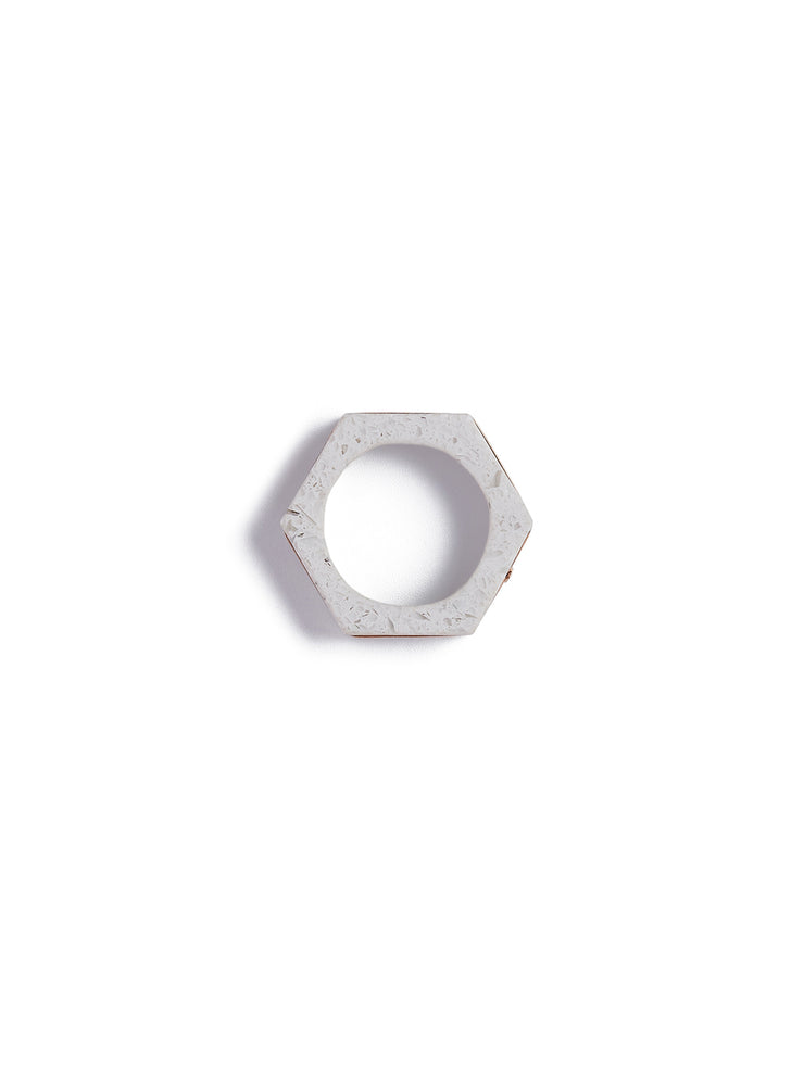 Cog Ring in White