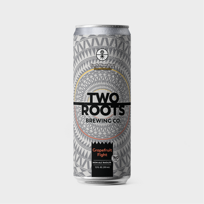 Two Roots Brewing's Non-Alcoholic Craft Radler - Drink in the sweet, tangy bliss of our Grapefruit Fight. Splashed with grapefruit juice and refreshing lemon, Grapefruit Fight is destined to be your new summer crush.  Good to Know:  Low Calorie Vitamin B12 Rich Filled with Electrolytes and Carbohydrates  Premium Isotonic Beverage