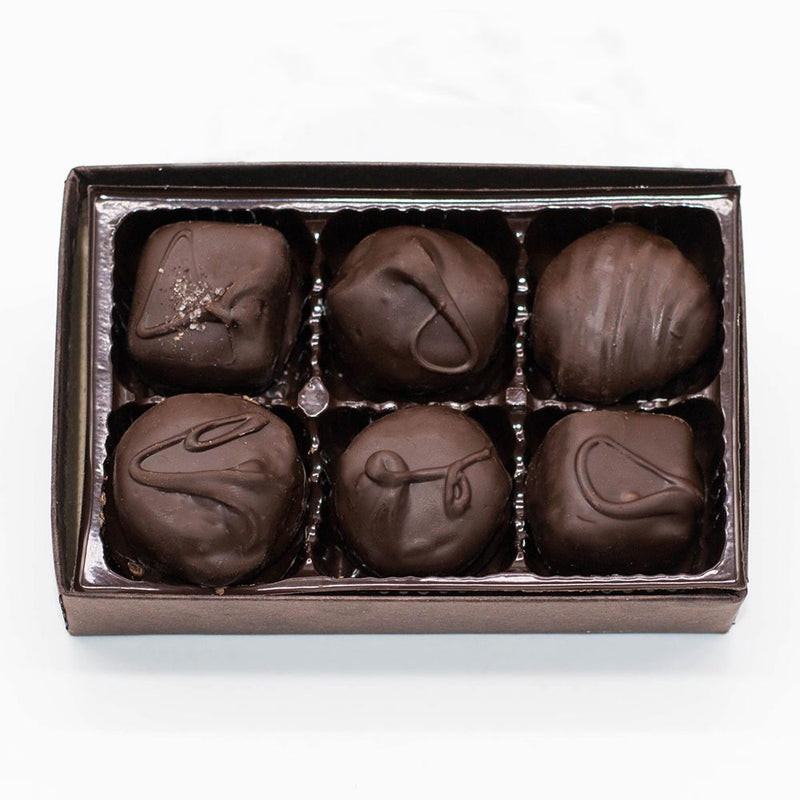 Wilson Candy Assorted Boxed Chocolates - Dark Chocolate Only - 6 Piece