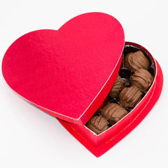 Valentine's 8oz. Milk Chocolate Variety Heart Box - Wilson Candy