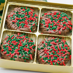 4 Piece Milk Chocolate Covered Oreos with Holiday Sprinkles