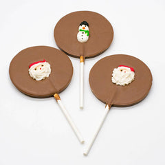 Milk Chocolate Decorated Circle Pop