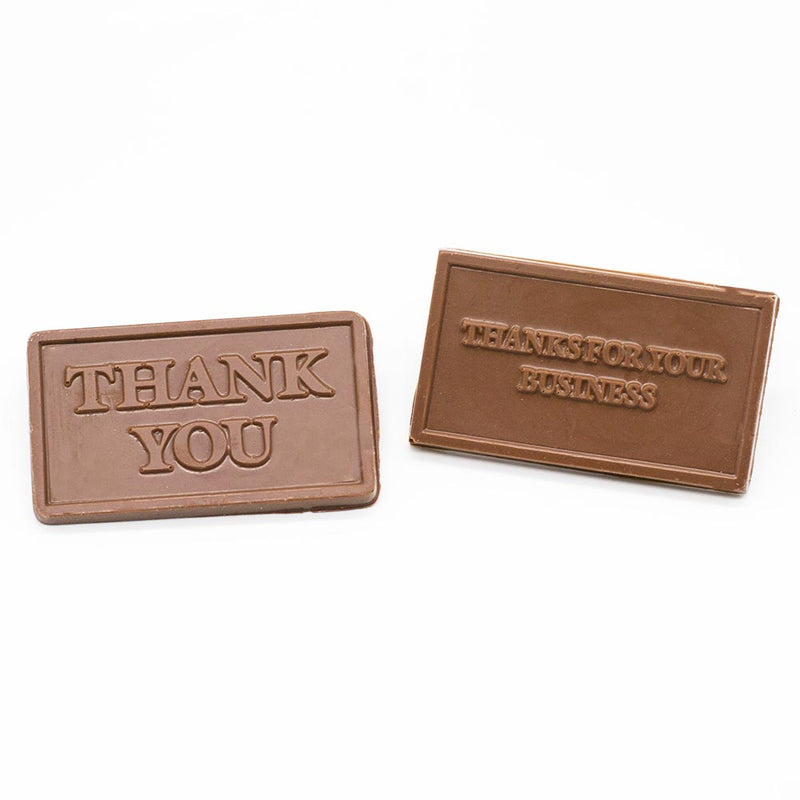 Wilson Candy Milk Chocolate Thank You For Your Business Card