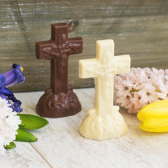 Wilson Candy Ivory Chocolate Cross - Christmas, Easter, First Communion