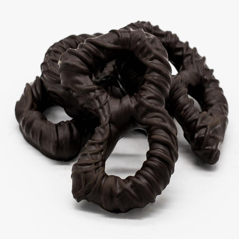 Dark Chocolate Covered Broken Pretzel Pieces