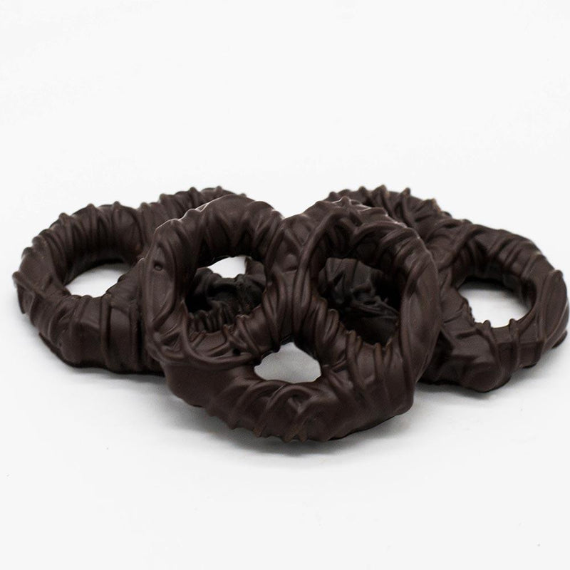 Wilson Candy Dark Chocolate Covered Pretzel Twists - 8 oz. Bag