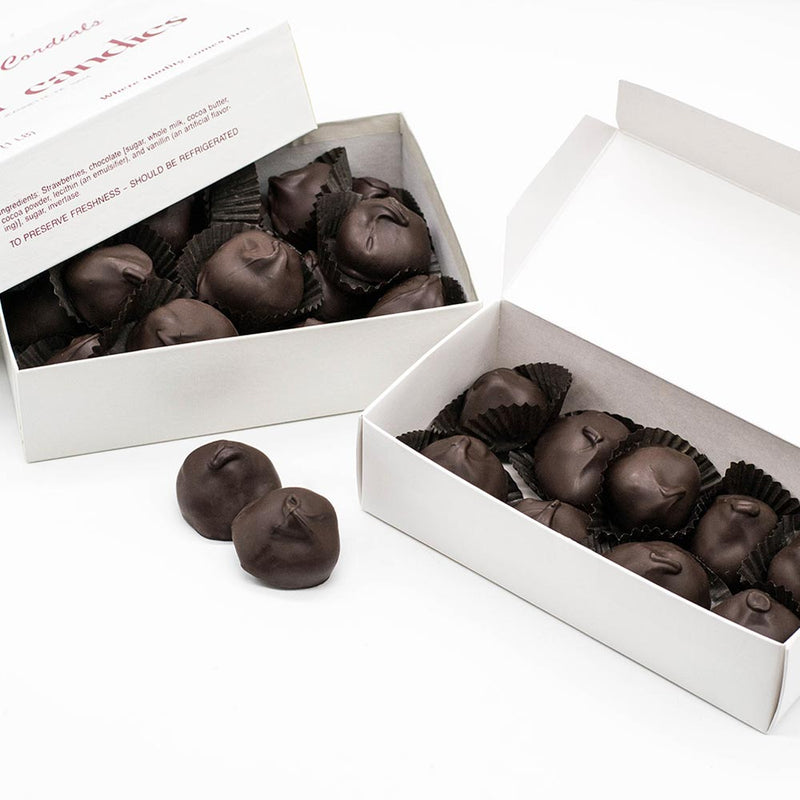 Wilson Candy Dark Chocolate Covered Strawberry Boxes