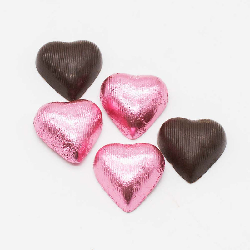 Dark Chocolate Foil Hearts Wilson Candy