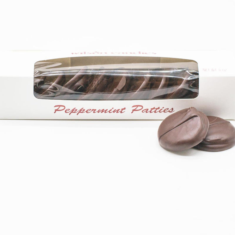 Wilson Candy Dark Chocolate Covered Peppermint Patties