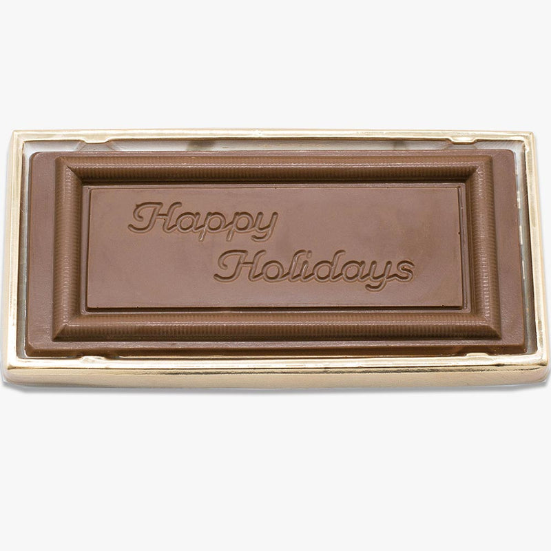 Happy Holidays Solid Milk Chocolate Mold