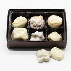 Assorted Boxed Chocolates - Ivory Chocolate Only - 6 Piece