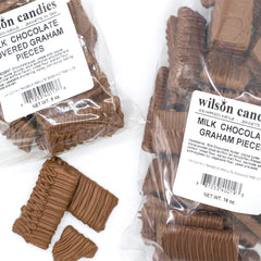 Wilson Candy Milk Chocolate Covered Graham Cracker Pieces