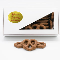 Milk Chocolate Covered Mini Pretzels - 10 oz. Box