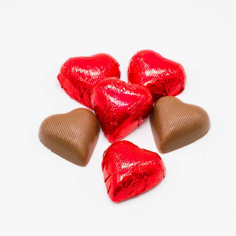 Milk Chocolate Foil Hearts - Wilson Candy