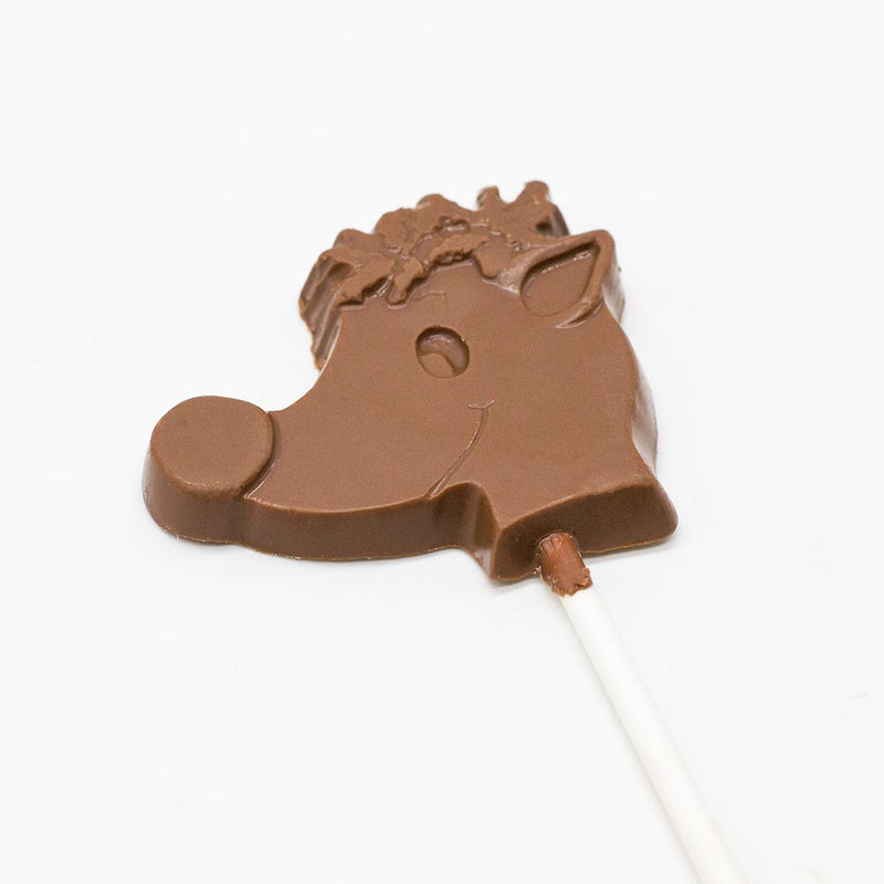 Milk Chocolate Rudolph Face Pop