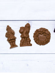 Milk Chocolate Flat Santa with Pack Mold