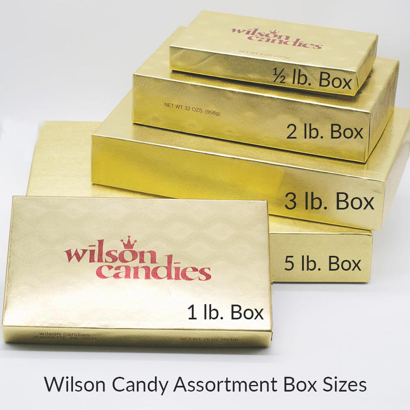 Wilson Candy Milk and Ivory Chocolate Deluxe Assortment Variety Box