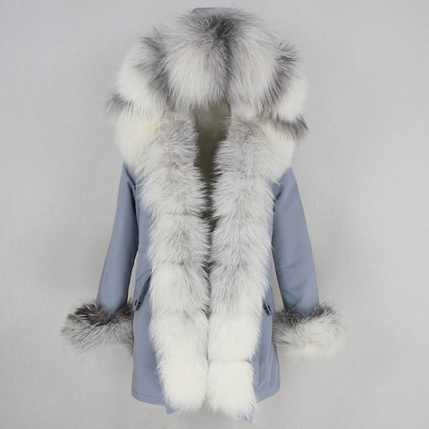 Carmen Charlott Luxury Fox Fur Parka AW20