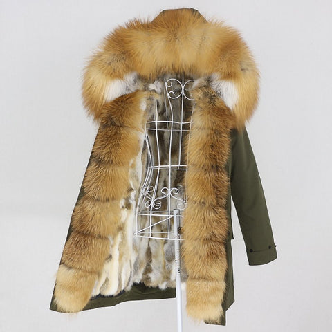 Carmen Charlott Fox and Rabbit Fur Parka AW20