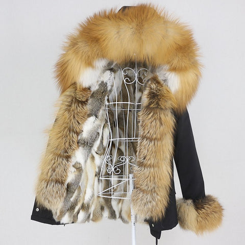 Carmen Charlott Luxury Fox Fur Jacket AW20
