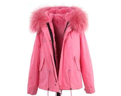 Carmen Charlott Jacket Pink - Light Pink Fur