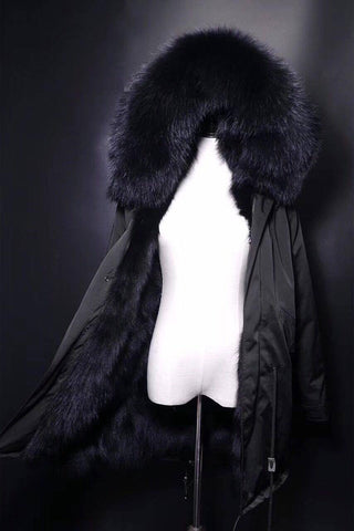 Carmen Charlott Black Collection - Fox Fur Parka