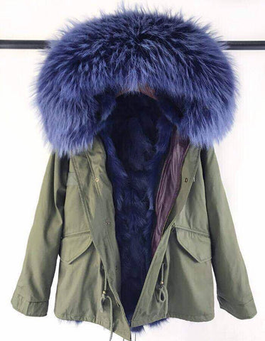 Carmen Charlott Fox Fur Jacket - Green