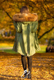 Carmen Charlott Fox Fur Parka Green