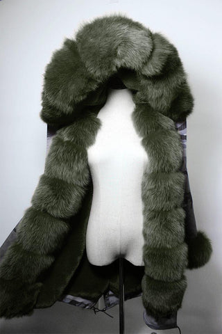Carmen Charlott White Collection - Fox Fur Parka