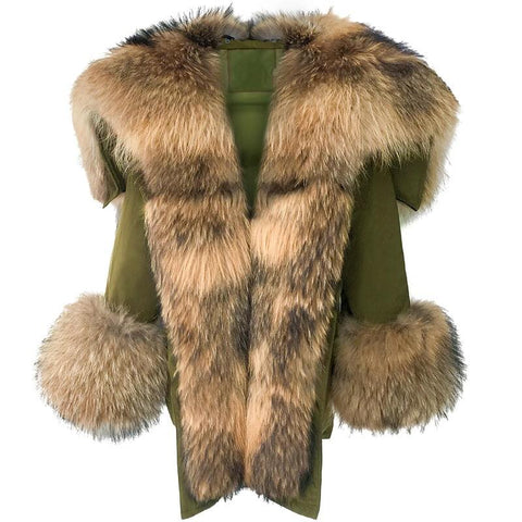 Carmen Charlott Luxury Down Fox Fur Parka - AW19